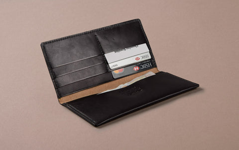 Black Choosing Keeping Large Slim Wallet