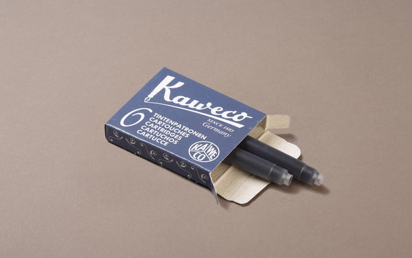 Blue Black Kaweco 6 Pack Ink Cartridges