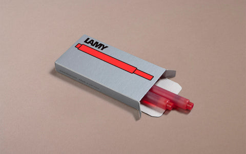 Red Lamy 5 Pack Ink Cartridges