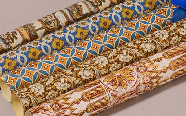 Assorted Blue and Yellow Remondini Wrapping Papers