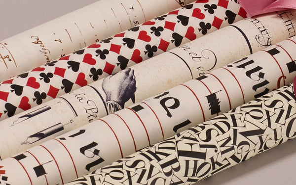 Assorted Red and Black Wrapping Papers