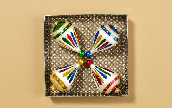Christmas Ornaments, Striped Bells