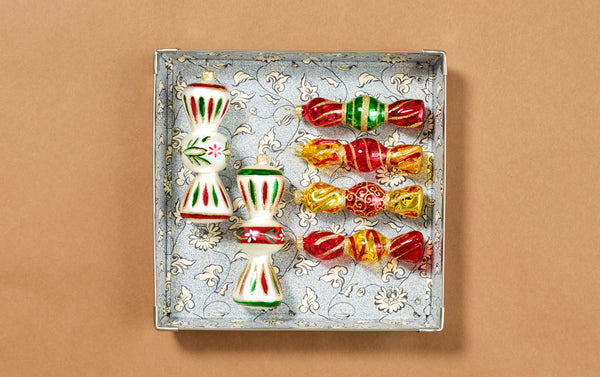 Christmas Ornaments, Crackers and Sweets