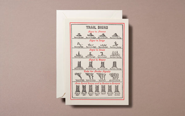 Letterpress Nature Trail Signs Greeting Card
