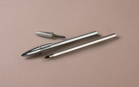 Anniversary Special Edition Silver Ballpoint Pen, Black Ink