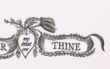 Letterpress Forever be Thine Greeting Card