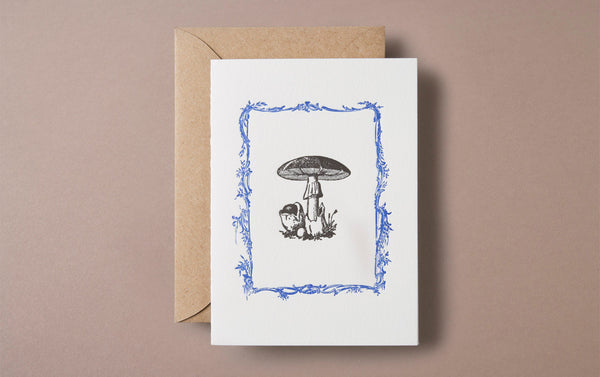 Letterpress Mushroom Greeting Card