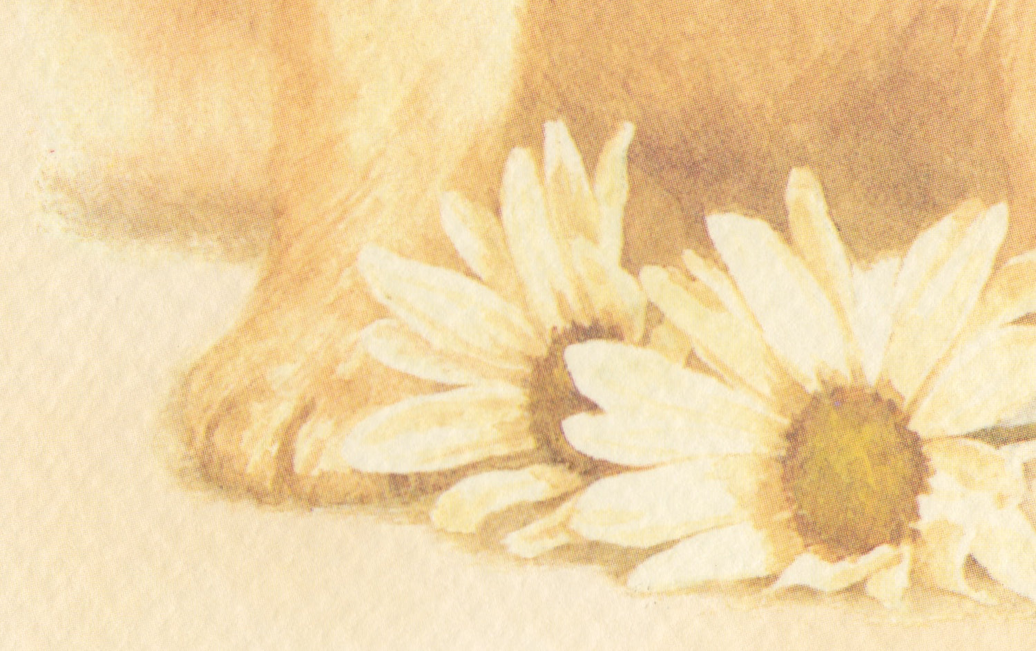 Puppy and Daisy Greeting Card