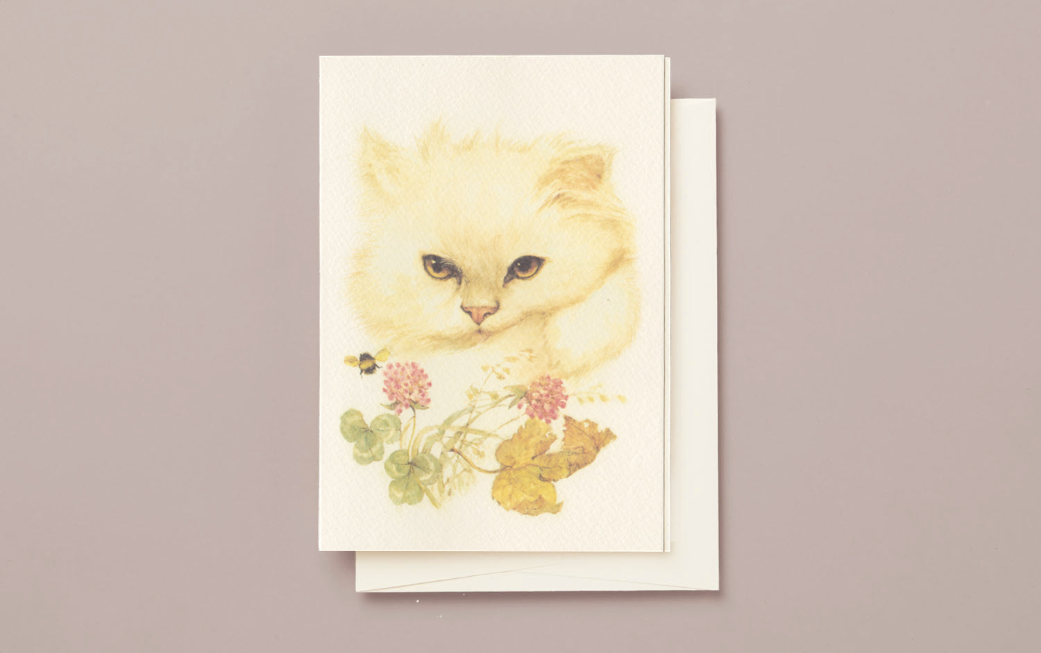 Kitten and Bumblebee Greeting Card