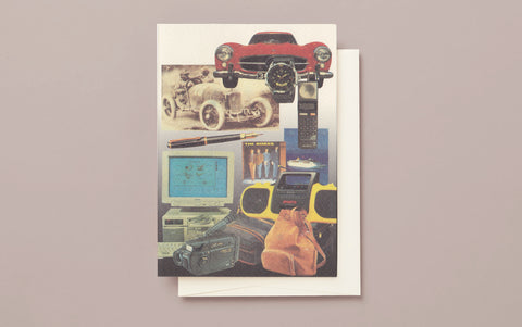 Boys like Cars Greeting Card