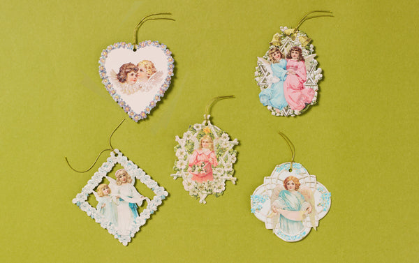 Christmas Love Angels Tassel Gift Tags
