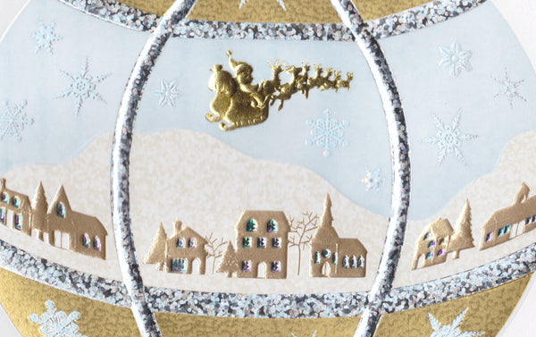 Engraved Ornament Christmas Card