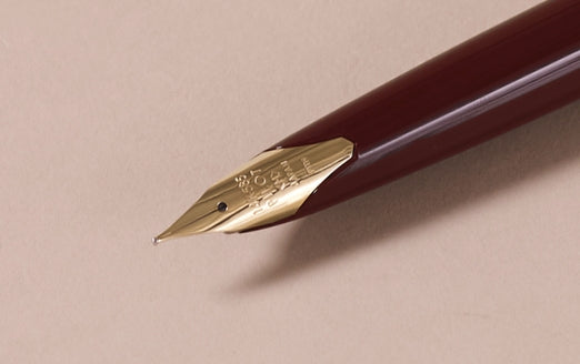 "1968 Burgundy and Satin Rose gold ""Elite"" Pocket Fountain Pen"