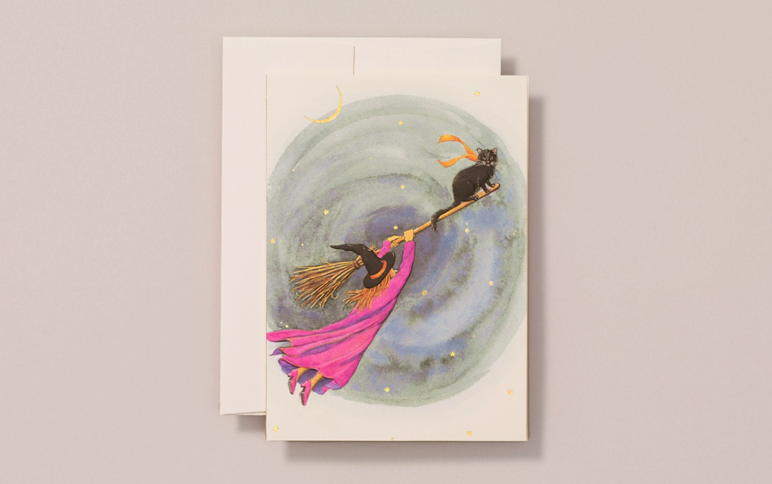 Foiled Witch Greeting Card