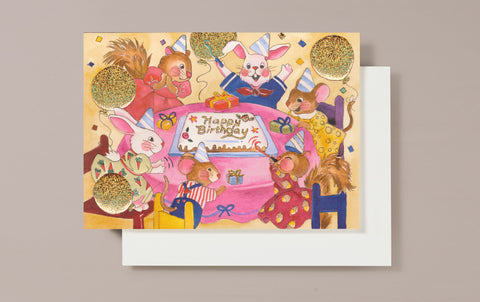 Happy Birthday Party Greeting Card