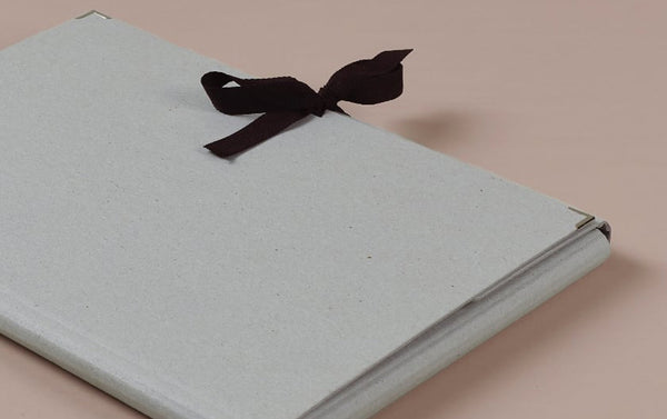 Grey Archival Folder with Ribbon