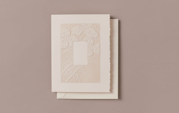 Engraved Iris Border Greeting Card