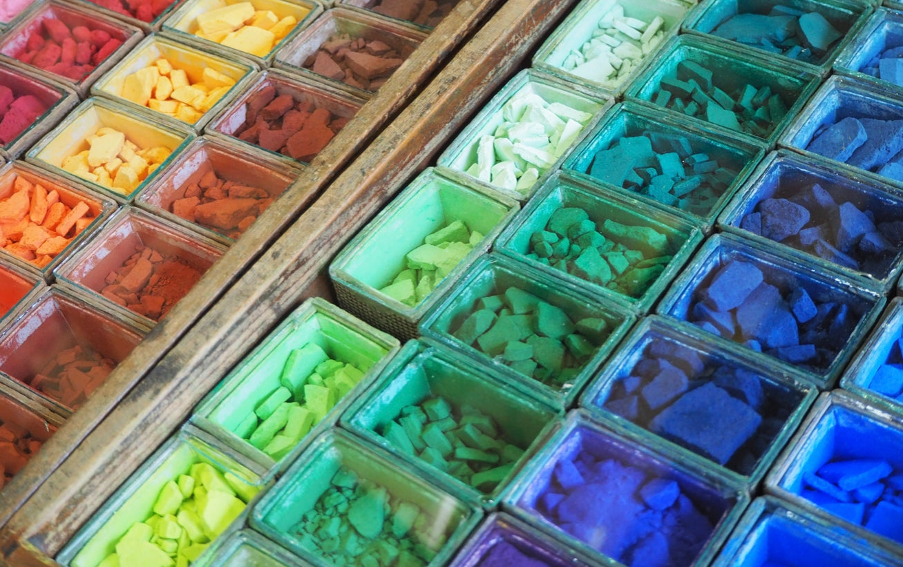 Saiun-do Kyoto Nihonga Mineral Pigment Set, 104 colours