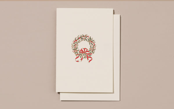Engraved Wreath Christmas Card
