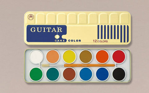 Guitar 12 Pan Watercolour Palette