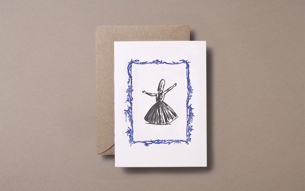 Letterpress Dervish Greeting Card