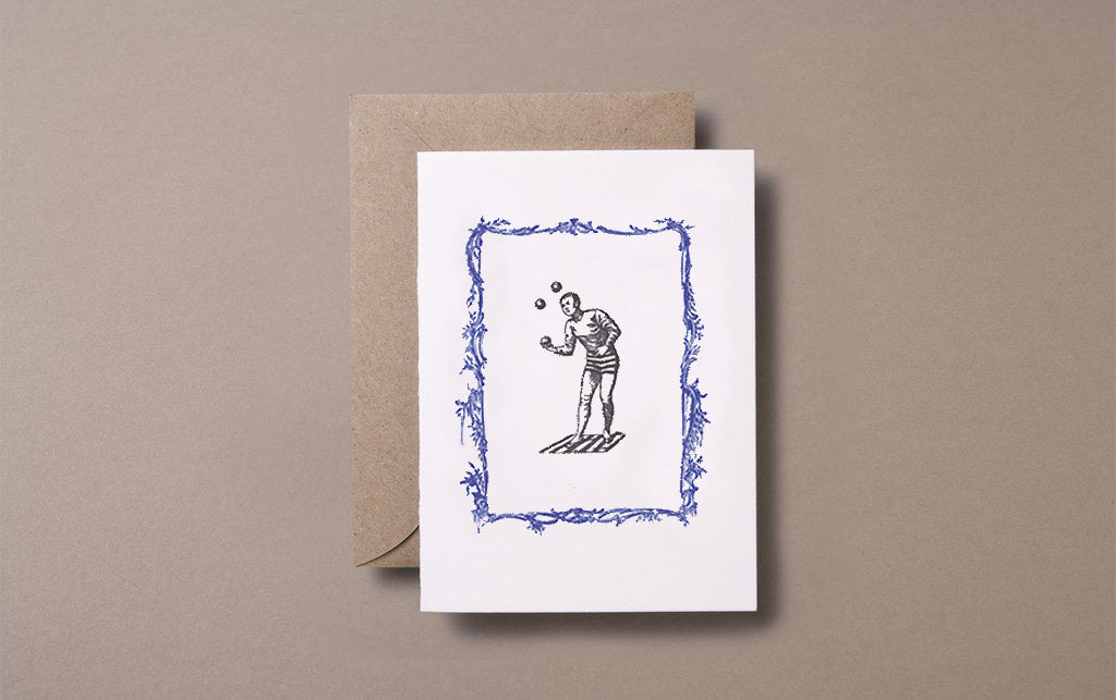 Letterpress Juggler Greeting Card