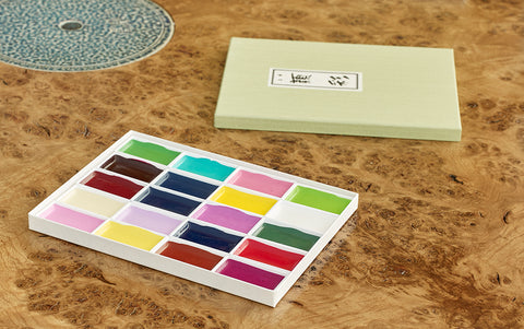 20 Colours Spring Botanical Japanese Watercolour Set