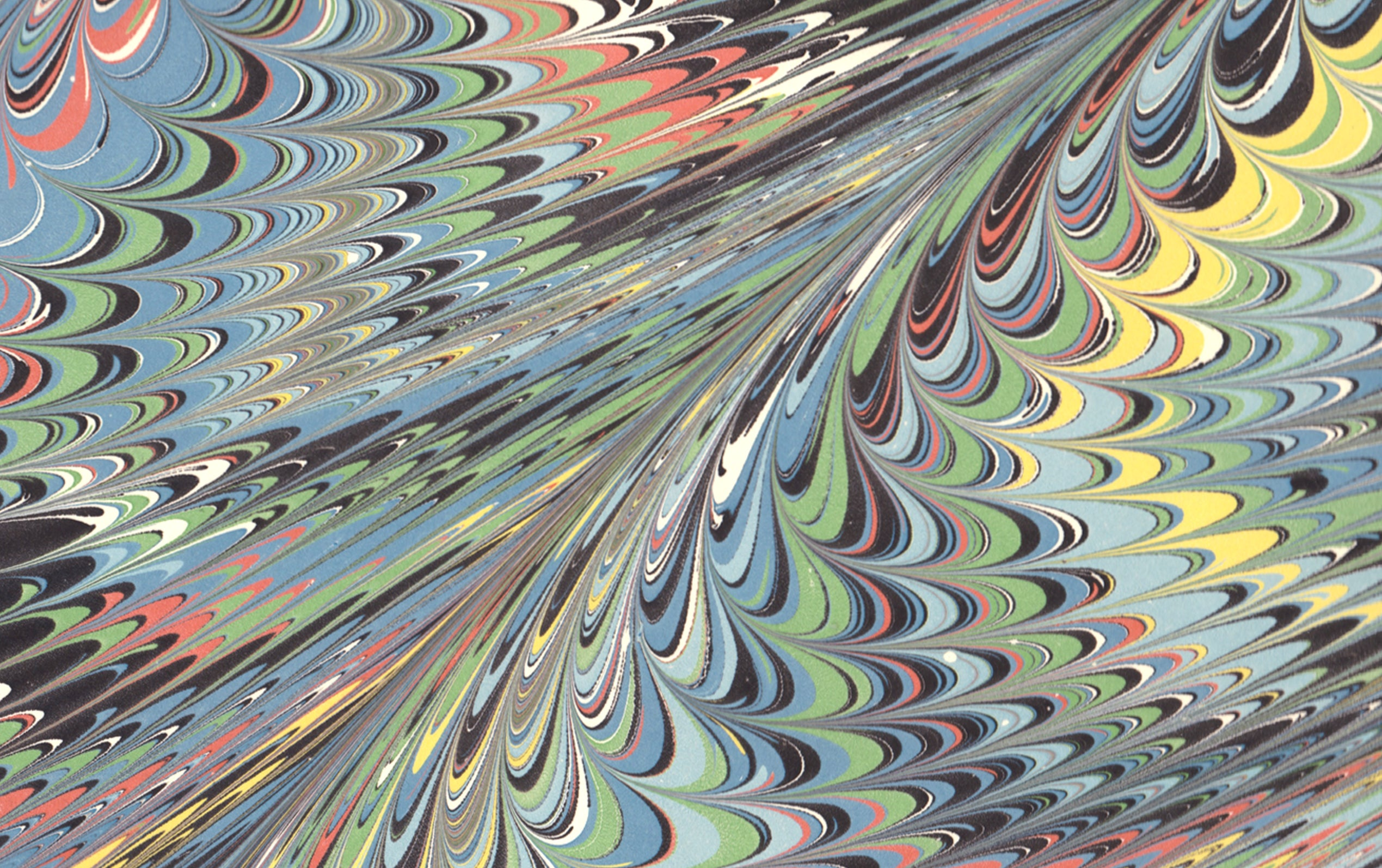 Hand Marbled Paper Sheet, Rainbow