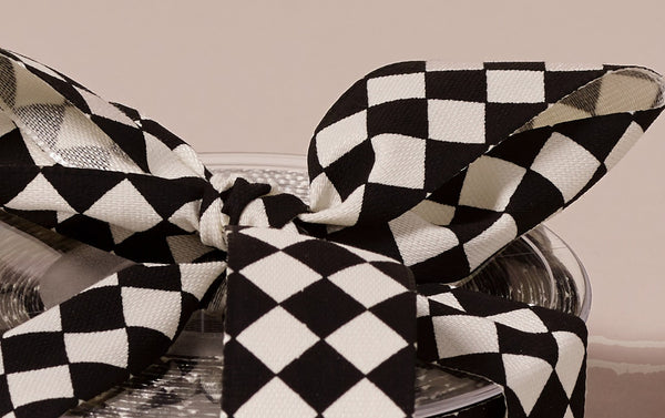 Premium Decorative Ribbon, 20m roll - Black and White