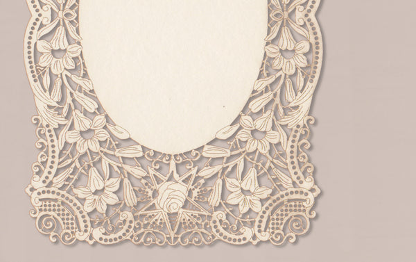 Set of 6 Lace Postcards and matching envelopes, No. 3