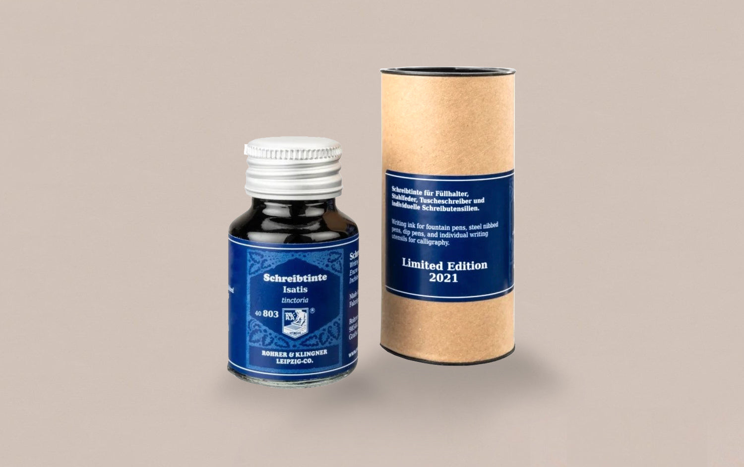 Limited Edition German Fountain Pen Ink 50ml  - Isatis Blue