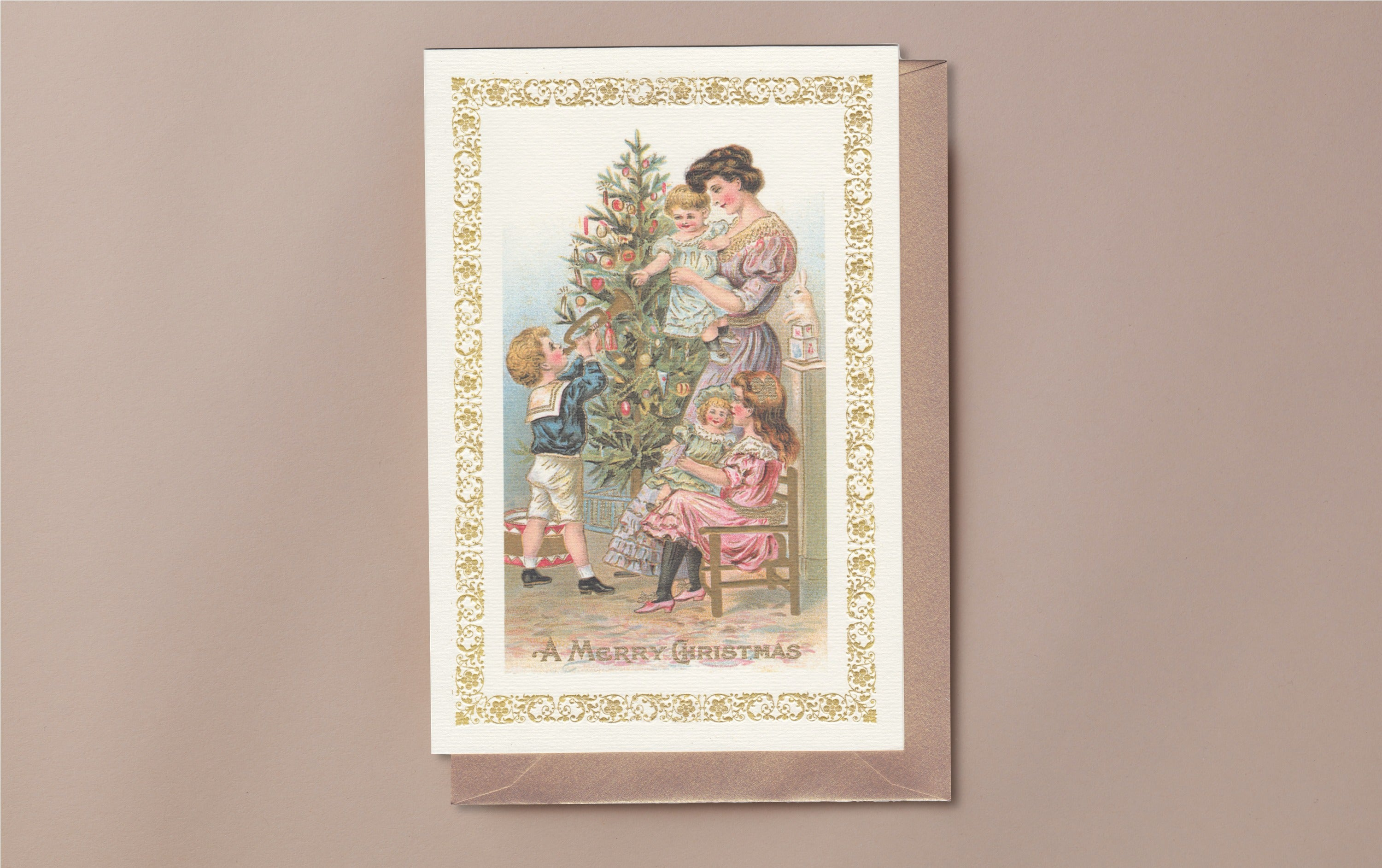 10 Christmas Cards and Envelopes, Christmas Tree