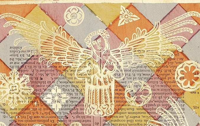 J Jeffery Paper, Gold Harlequin Angels
