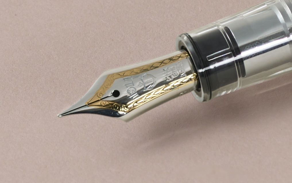Demonstrator Clear Sailor Pro Gear 21k MF Fountain Pen