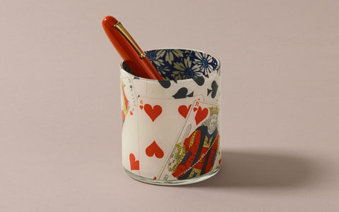 John Derian Desk Pencil Cup, Roi de Coeur
