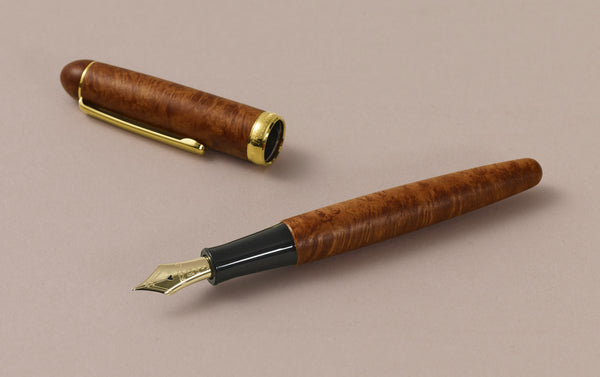 Briar Wood Platinum 3776 Fountain Pen