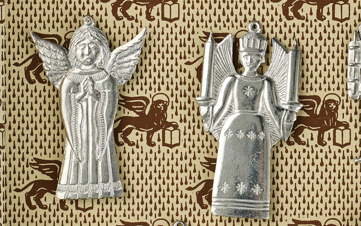 Nostalgic Christmas Ornaments, tin charms