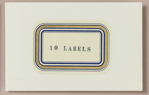 Choosing Keeping Gold Foiled Classic Decorative Labels