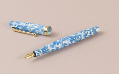 Ohnishi Seisakusho Sky and Clouds Acetate Fountain Pen