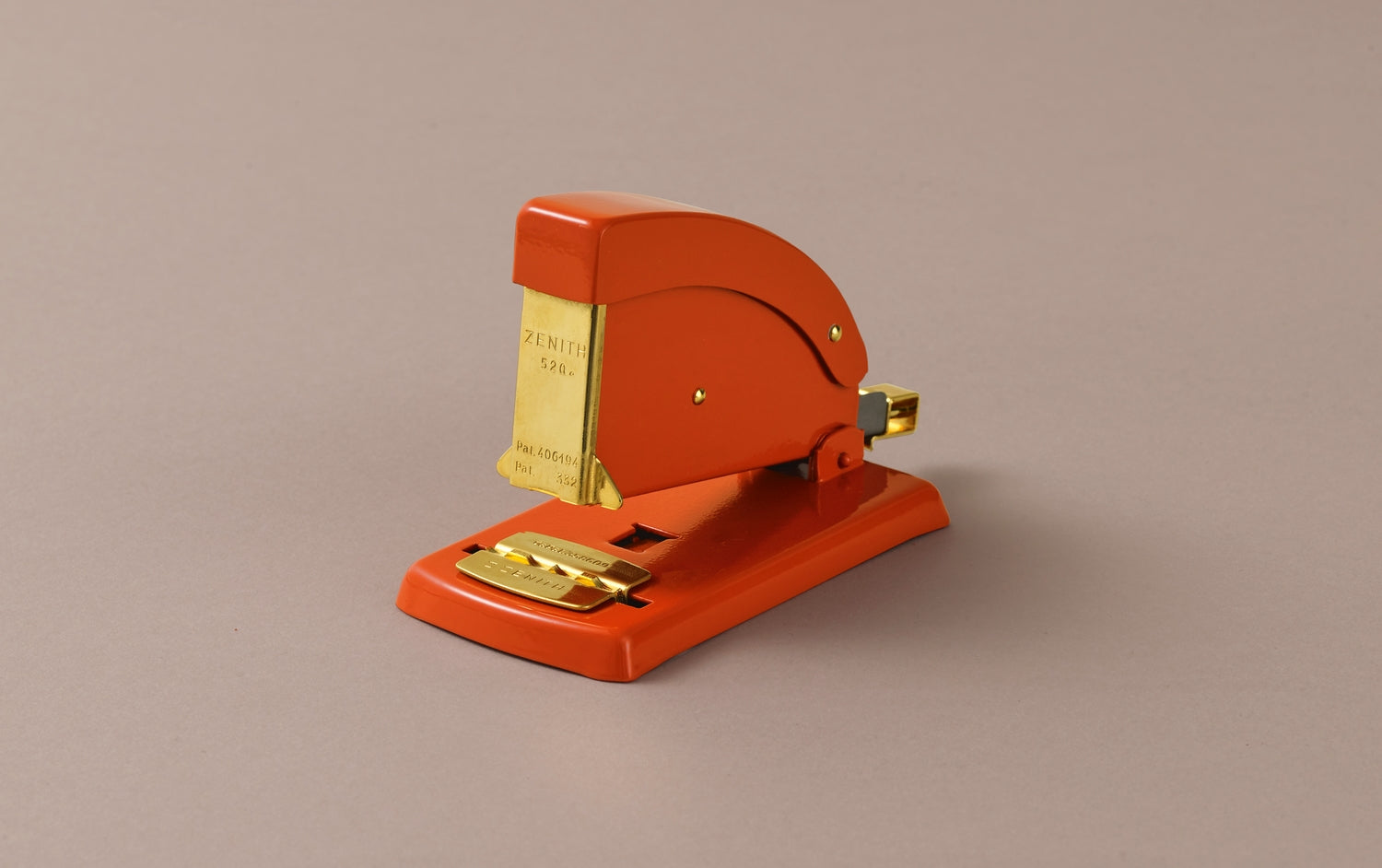 Desktop Aluminium Vermillion Red and Gold Zenith Stapler
