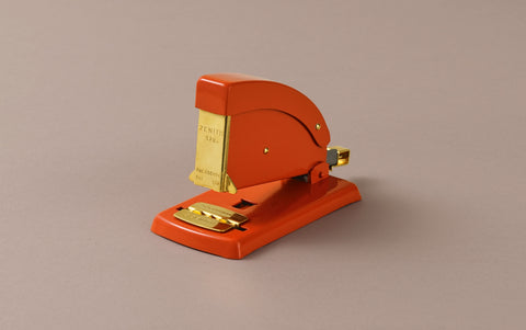 Aluminium Vermillion Red and Gold Zenith Stapler