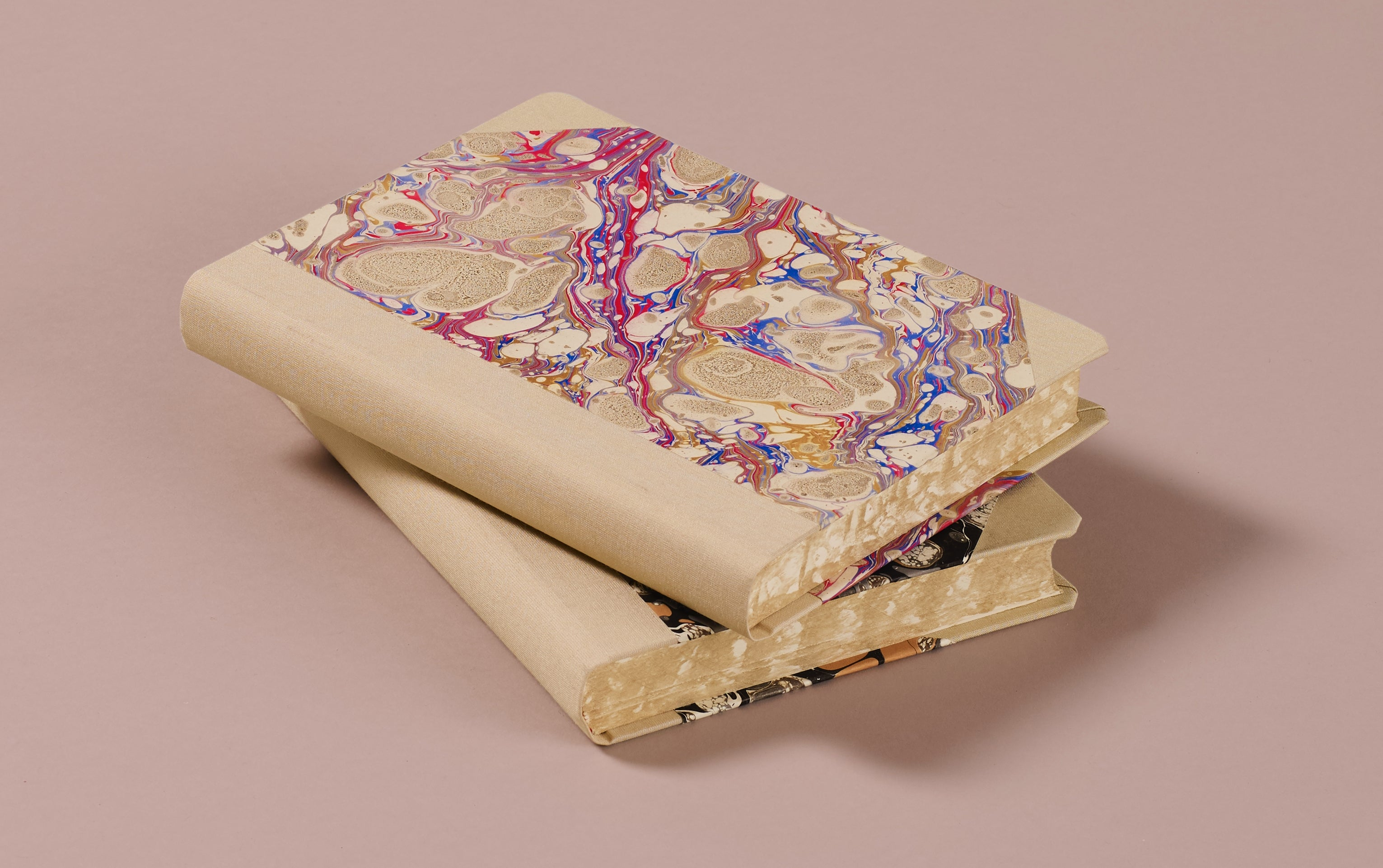 "Extra-Thick ""Composition Ledger"" Marbled Notebook, Cream Spine"