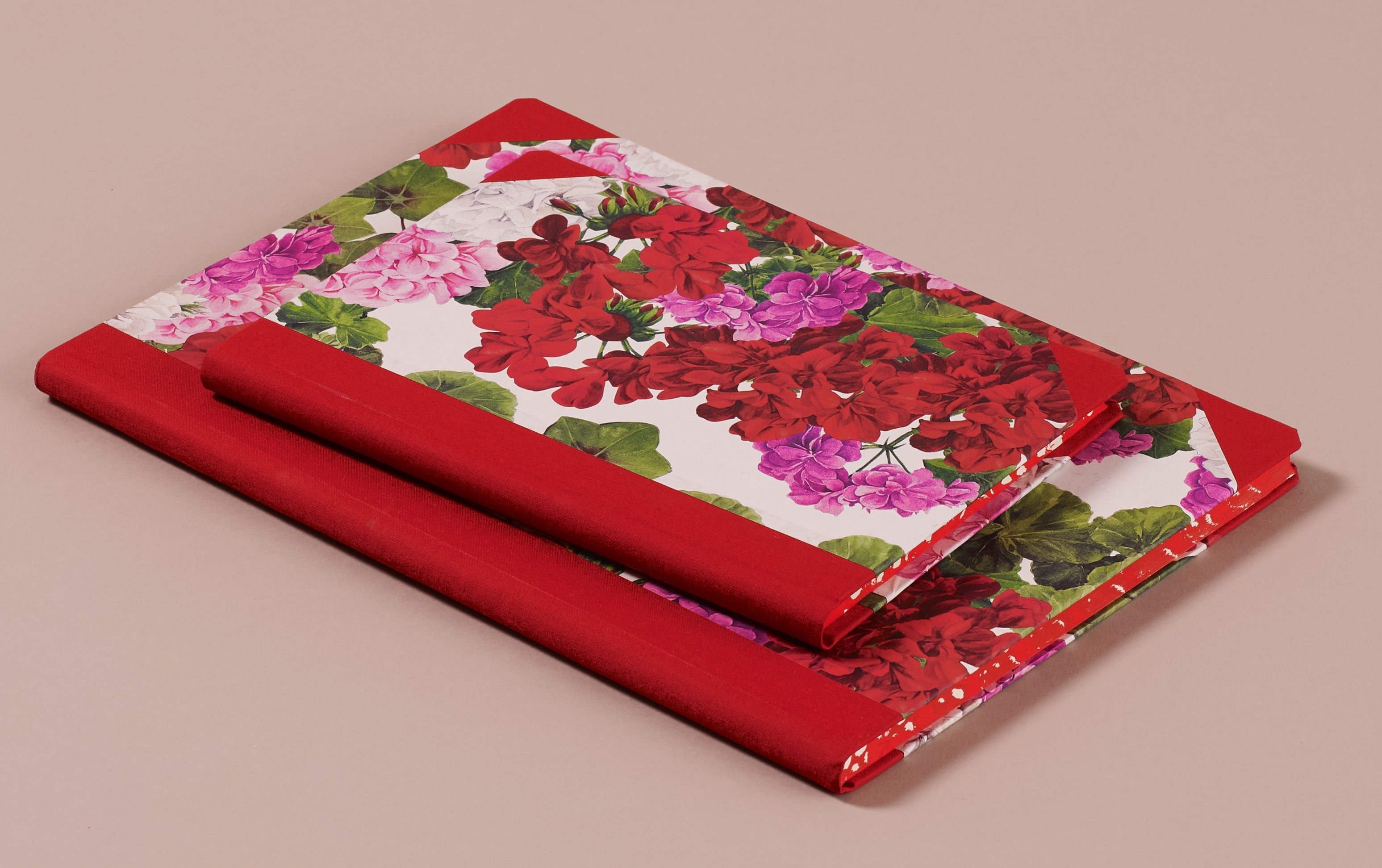 "Hardback ""Composition Ledger"" Notebook, Geraniums"