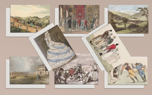 8 Georgian Greeting Card Set, Pastoral Living