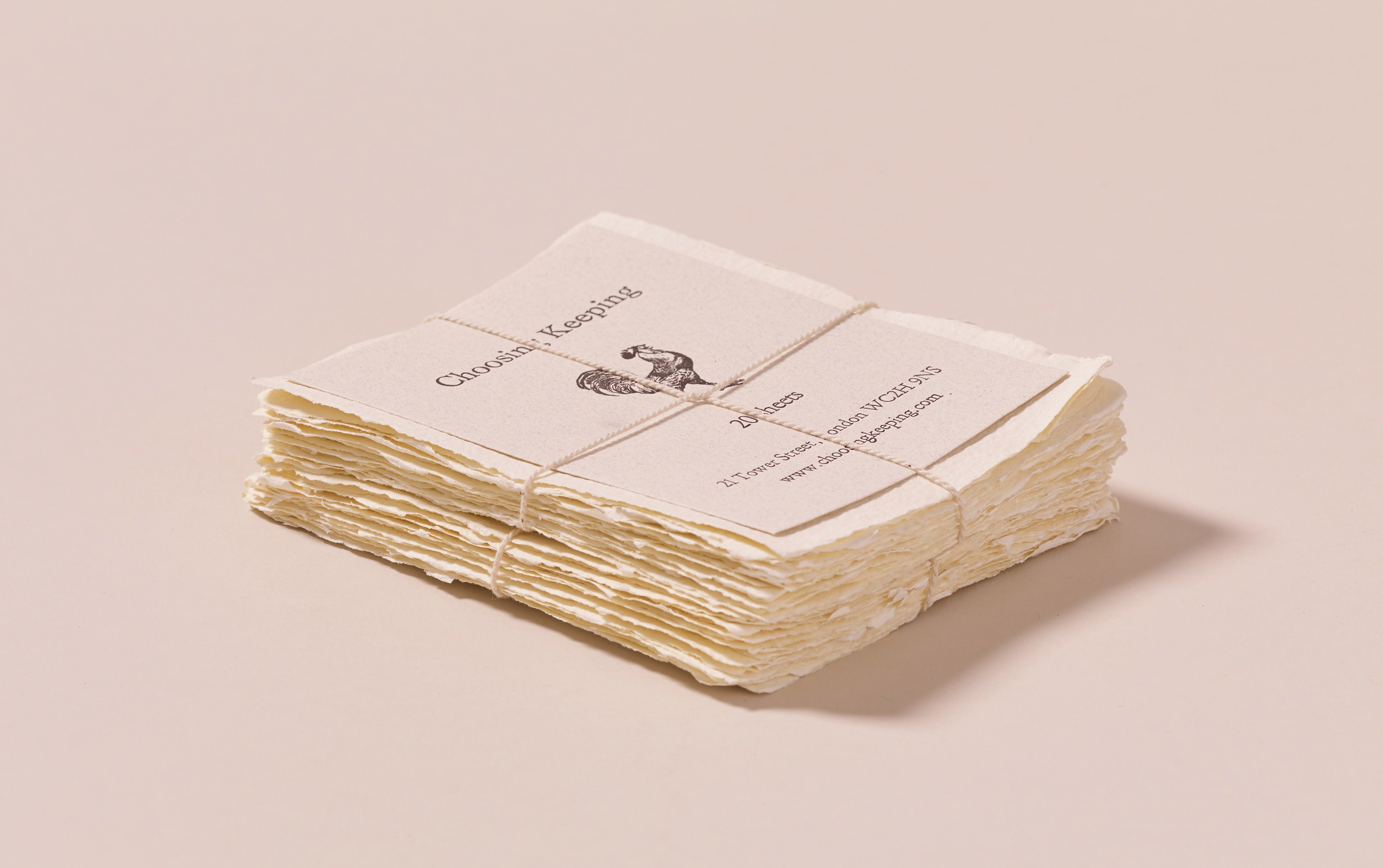 20 Handmade Ivory Paper Cards