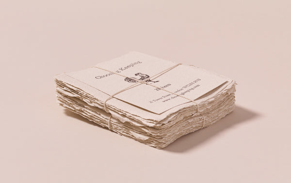20 Handmade Clay Paper Cards
