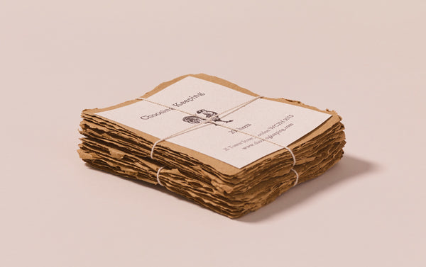 20 Handmade Olive Brown Paper Cards