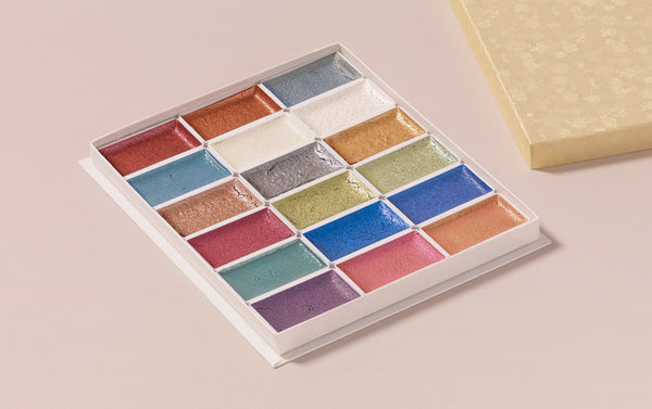 18 Metallic and Pearlescent Colour Watercolour Set