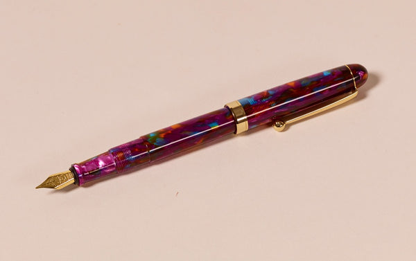 Ohnishi Seisakusho x CK Cherry Garnet Acetate Fountain Pen