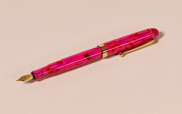 Ohnishi Seisakusho x CK Pink Spinel Acetate Fountain Pen